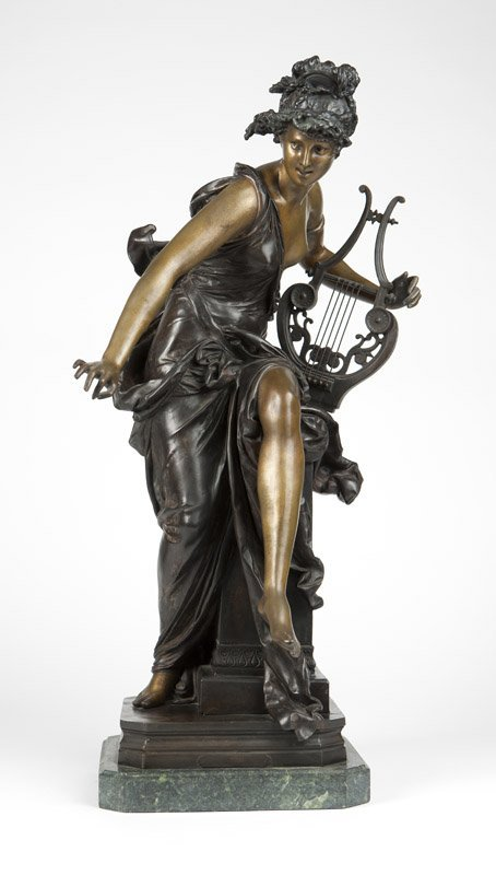 After A.- E. Carrier-Belleuse 'Melodie' bronze