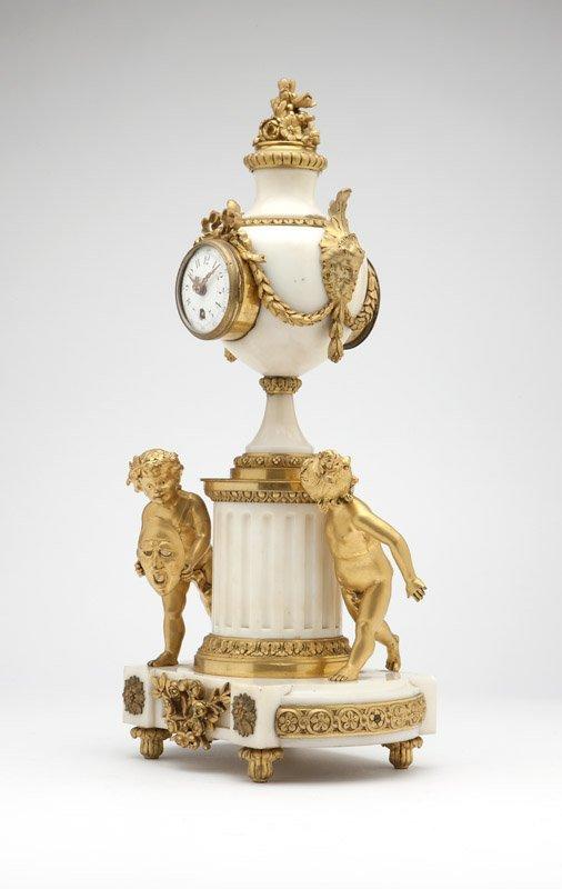 A pair of gilt-bronze & white marble candelabra - 3