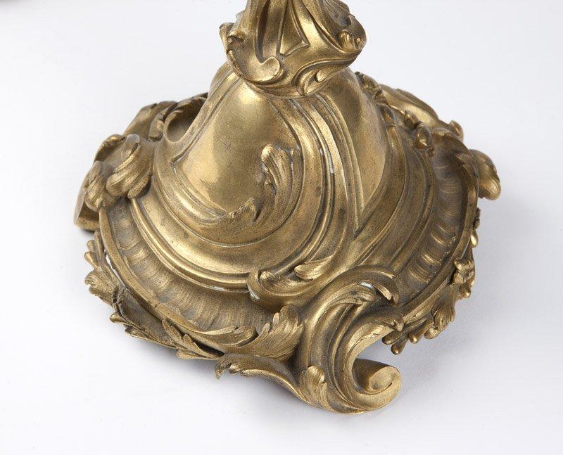 A pair of Louis XV gilt bronze candelabra - 2
