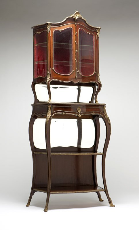 A Louis XV style gilt bronze-mounted etagere