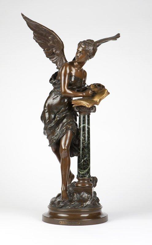 """M. Moreau ''Livre D'Or"""" bronze figure"""