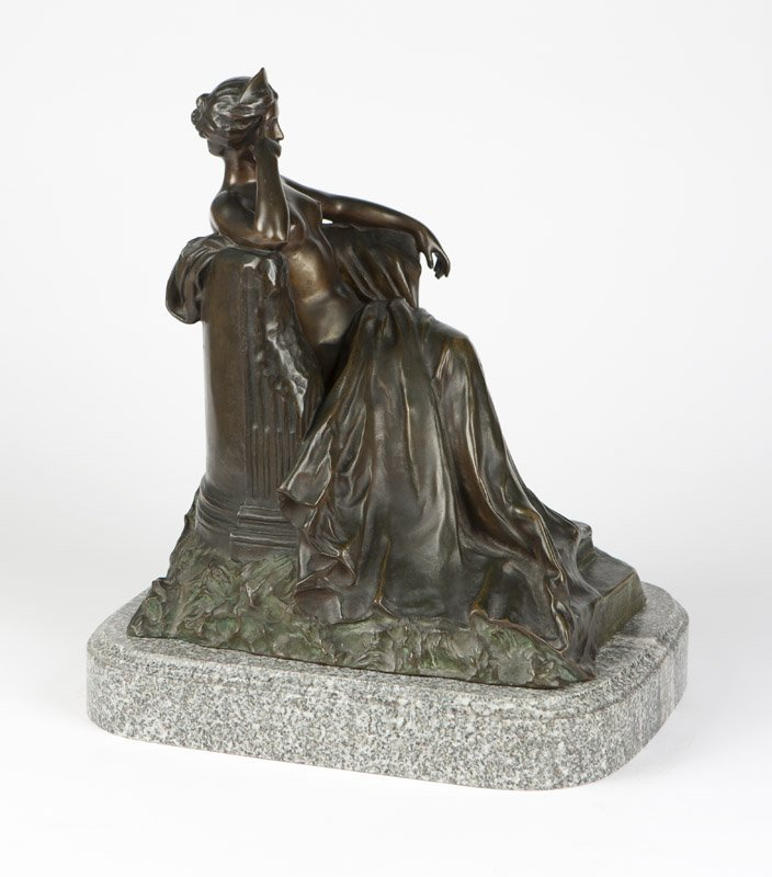 A Continental patinated bronze figure - 2