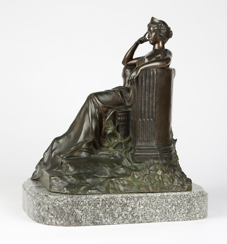 A Continental patinated bronze figure - 4
