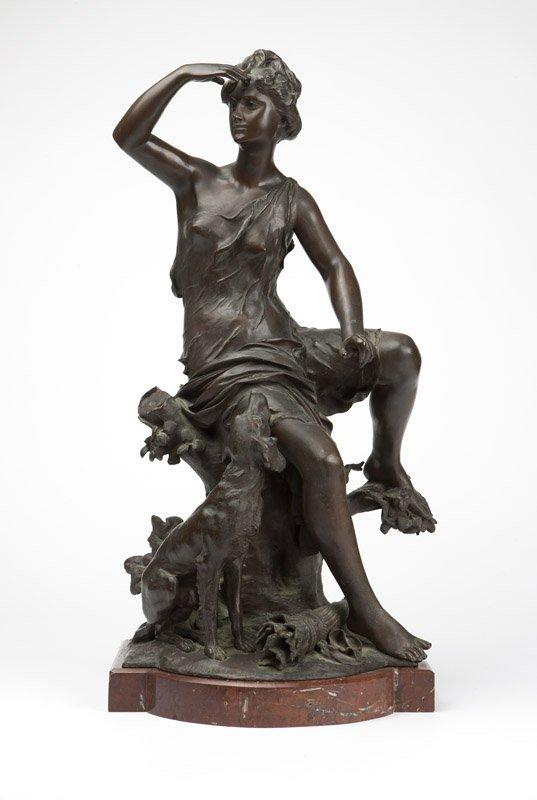 L. Madrassi, a bronze figure of Diana the Huntress