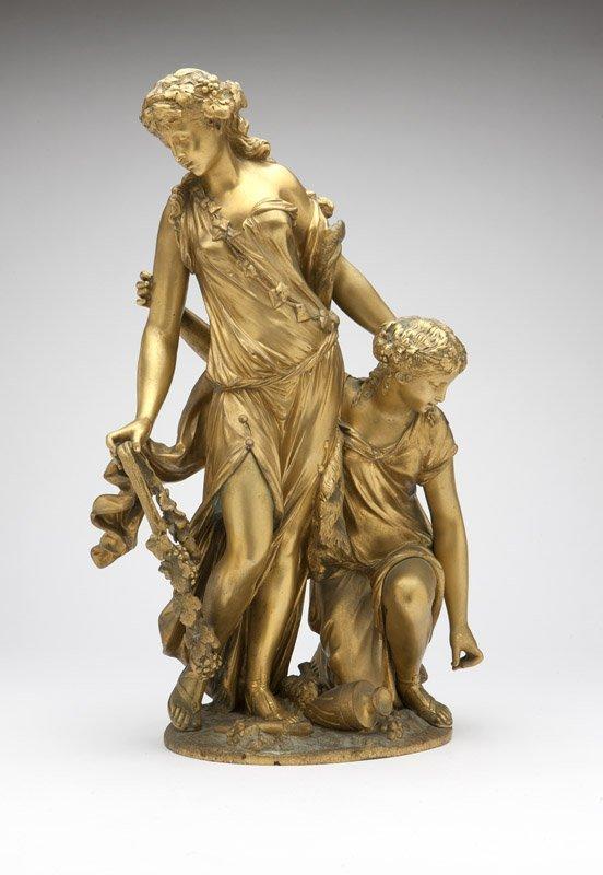 A Continental gilt bronze figural group