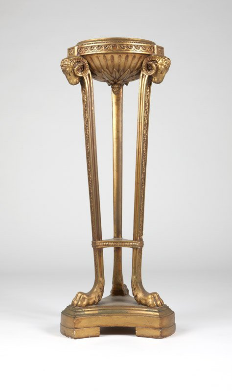 A Neoclassical giltwood pedestal / stand