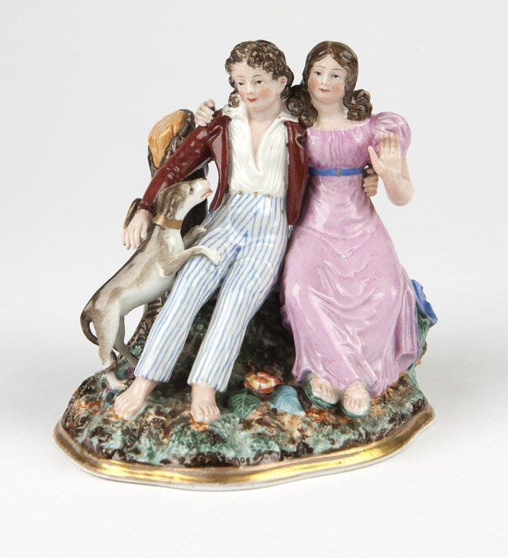 A Popov porcelain figural group