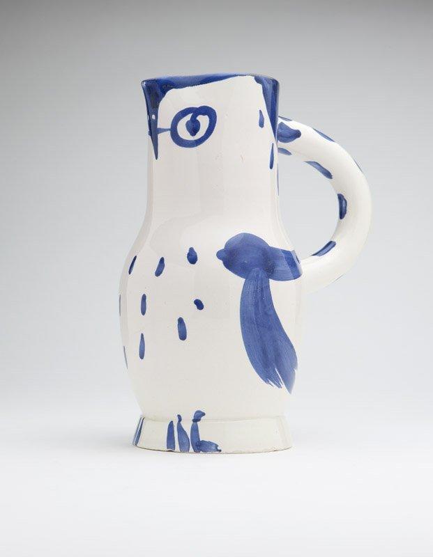 A Pablo Picasso / Madoura ceramic owl pitcher