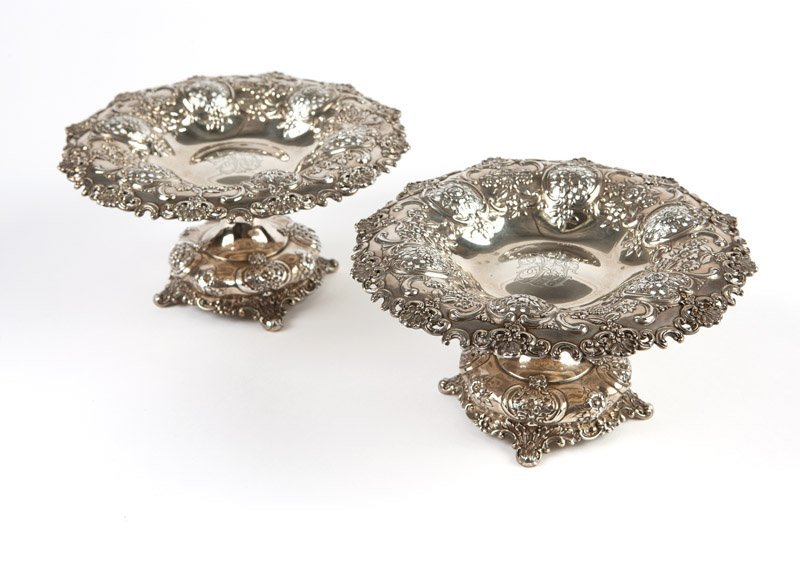 A pair of Tiffany & Co. sterling silver tazzas