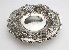 A Tiffany sterling silver center bowl