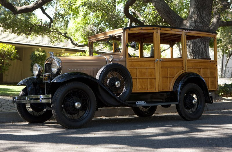 A 1931 Ford Model 'A' woody station wagon