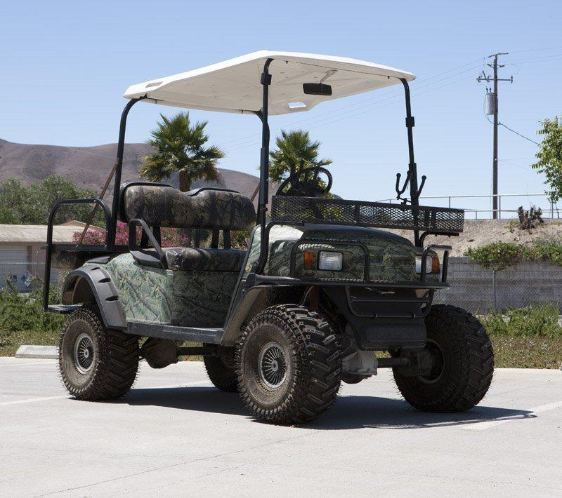A 2007 Bad Boy Buggies golf cart
