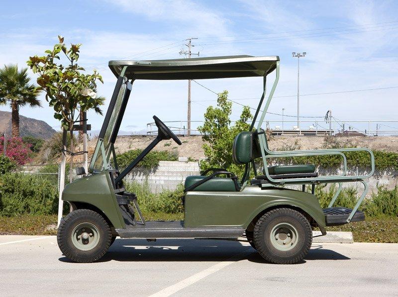 A 1996 Club Car golf cart