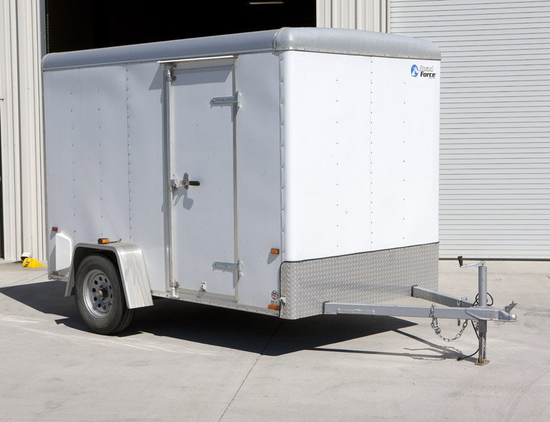 A Wells Cargo Road Force cargo trailer
