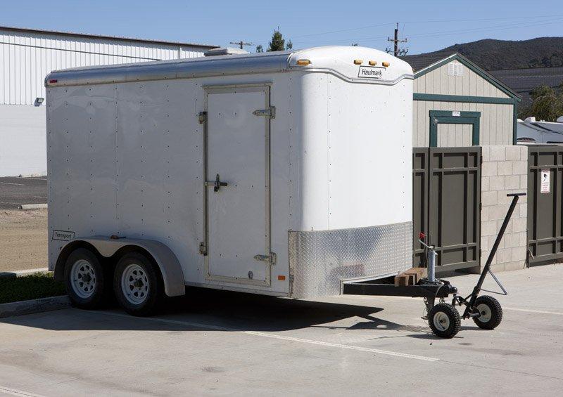 A 2008 Haulmark Transport DLX trailer