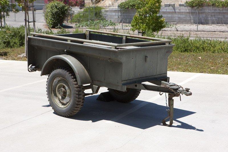 A US Military Bantam cargo trailer