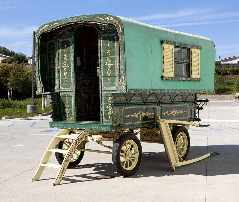 An English square bow Gypsy living wagon ''Carmelita''