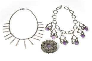 A group of Antonio Pineda silver jewelry