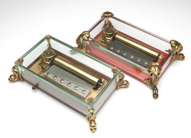 Two Reuge Sainte Croix music boxes