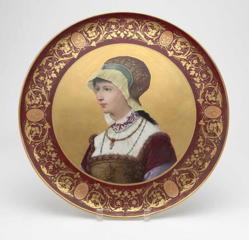 A large Royal Vienna style porcelain plaque