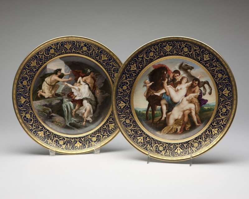 Two Royal Vienna style porcelain plates