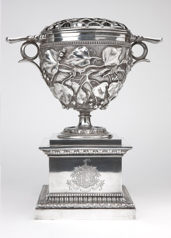 A Victorian silver-plated wine cooler by Elkington