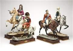 Four Royal Worcester porcelain limited edition figures