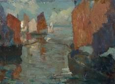 Armin Carl Hansen N.A. (1886-1957 Monterey, CA)