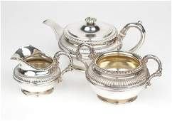 A George III sterling silver tea set