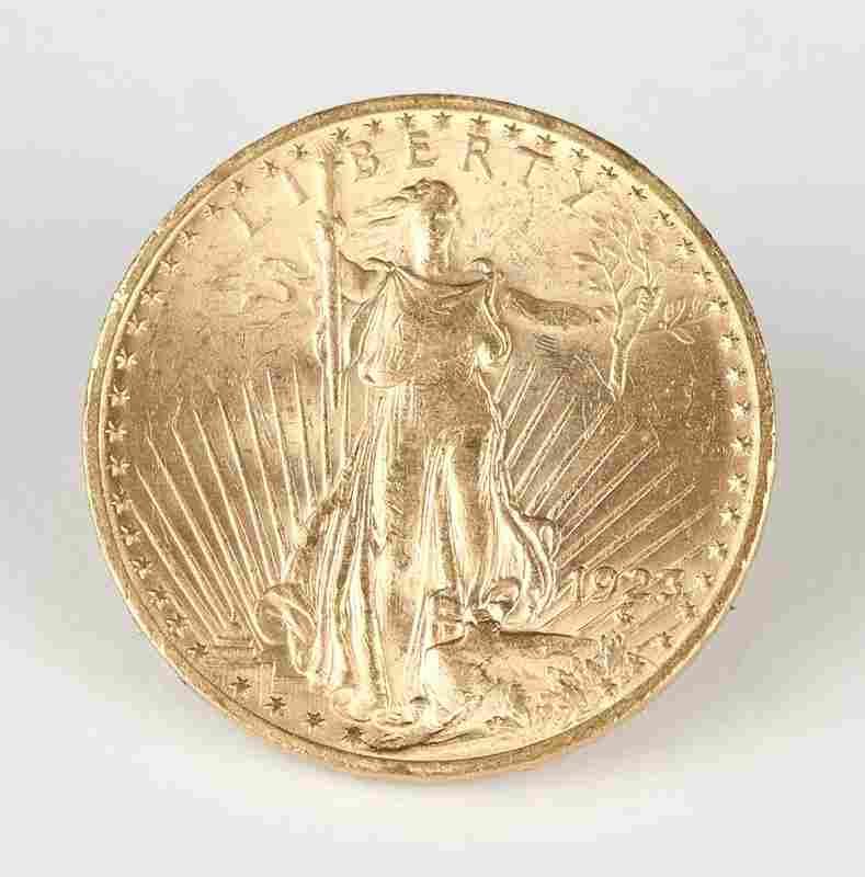 A 1923 $20 US St. Gaudens Gold Coin