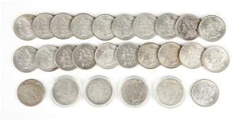 Group of 26 US Morgan Silver Dollars