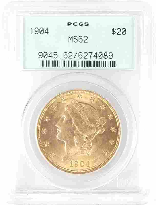 A 1904 $20 US Liberty Head Gold Coin