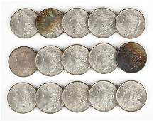 Group of 15 1885 O US Morgan Silver Dollars