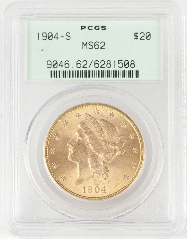 A 1904 S $20 US Liberty Head Gold Coin