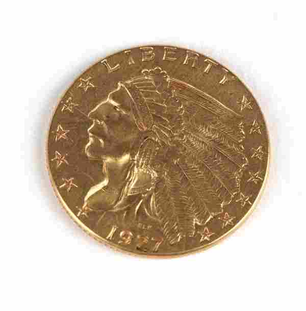A 1927 $2.50 US Gold Coin
