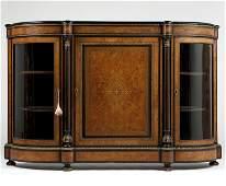 A Napoleon III marquetry meuble d'appui / vitrine