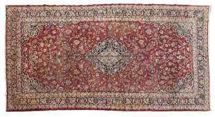 A large room-sized Persian rug
