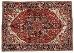 A large Heriz variety Persian rug