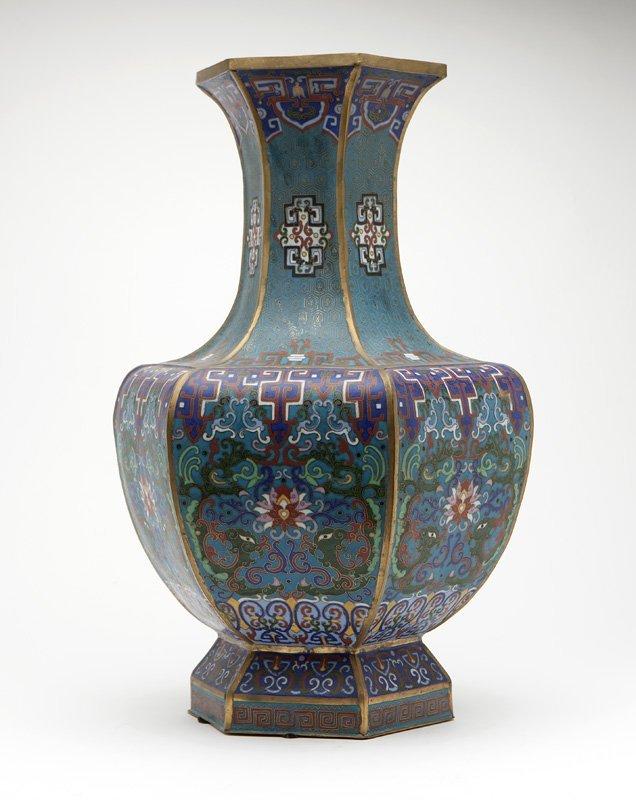 A large Chinese cloisonne enameled vase