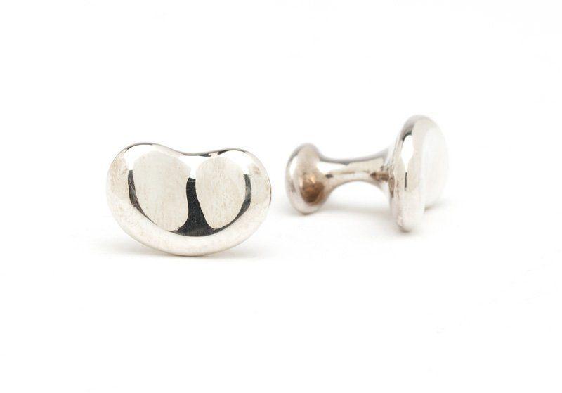 A pair of silver cufflinks, Elsa Peretti