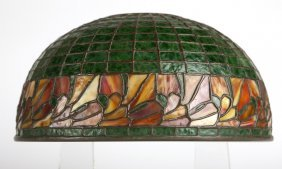 A Bigelow Kennard & Co. Leaded Glass Lamp Shade