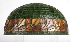 A Bigelow Kennard & Co. leaded glass lamp shade