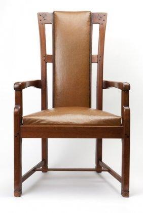 A Greene & Greene Arts And Crafts Hall Chair