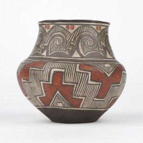 A Southwest Pueblo Polychrome Pottery Vessel