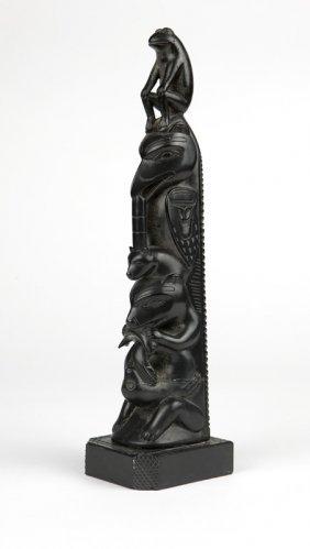 A Haida Carved Argillite Totem, Tim Pearson