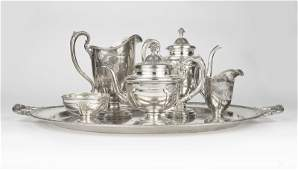 A Towle sterling silver coffee & tea service