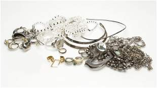 A large collection of costume jewelry