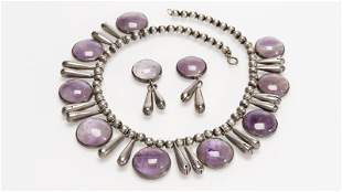 A silver and amethyst necklace, William Spratling