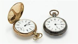 A group of two pocket watches