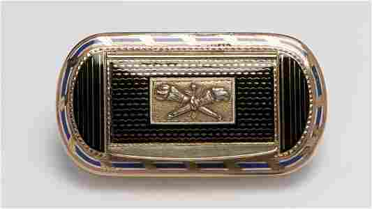 A 19th Century gold and enamel snuff box